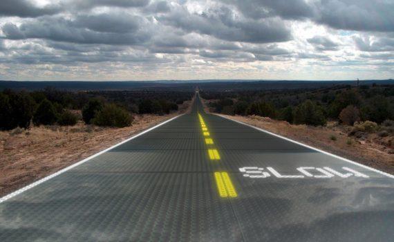 дороги из солнечных панелей